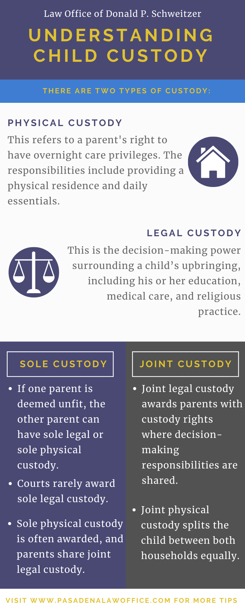 Understanding Child Custody Infographic